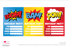Birthday Invitations Free Download Gorgeous Free Superhero Party Printables Catch My Party