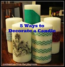 5 ways to decorate a candle
