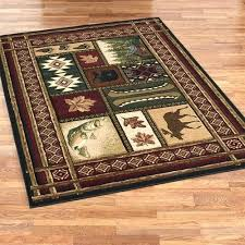 cabin chalet rectangle rug multi warm rustic rugs area