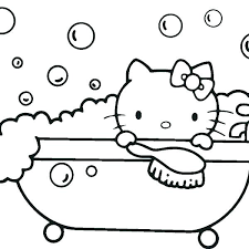 Hello Kitty Coloring Pages Free Printable Hello Kitty Coloring