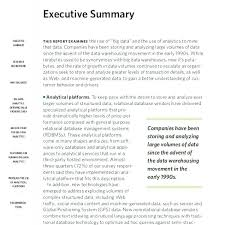 Executive Summary Template Word Relevant See Templates Sample ...