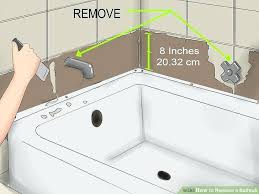how to replace a bath tub image titled replace a bathtub step replace bathtub faucet valve