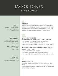 Resume Template Professional Fascinating Professional Store Manager Resume Templates By Canva