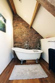 Small Loft Bathrooms With Exposed Brick Walls