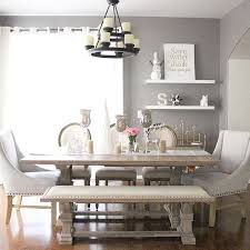 dining room with benches