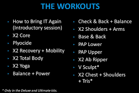 images of p90x2 x2 core exercise list