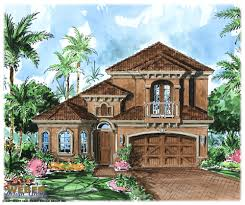 Tuscan Style House Plans  Floor Plans  Home Plans Plan   Weber    Marseille House Plan Tuscan Style House Plans