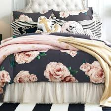 rose bedding blue