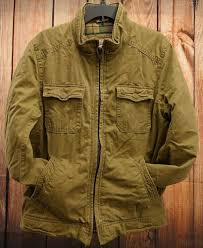 details about new american eagle outfitters vintage style mens work khaki jacket coat size m