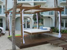 Outdoor Hanging Bed Teak ...