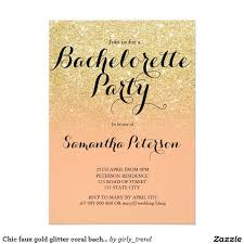 866 best modern wedding invitations images on pinterest Zazzle Bling Wedding Invitations chic faux gold glitter coral bachelorette party card glitter wedding invitationsbachelorette Elegant Wedding Invitations