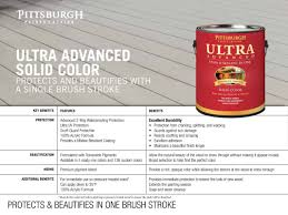 Ultra Advanced Exterior Stain Solid Color Pittsburgh Paints - Exterior waterproof sealant