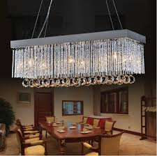 aliexpress 702527cmmodern first class k9 crystal for brilliant residence modern rectangular crystal chandelier decor