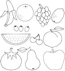 Fruits Coloring Pages For Preschoolers Fruits Coloring Pages For