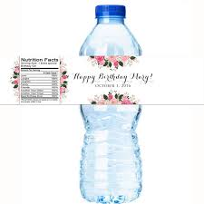 waterbottle labels beautiful rose personalized water bottle labels wedding