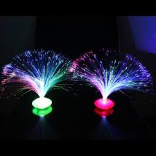colorful changing led fiber optic night light lamp stand home decor colorful gx