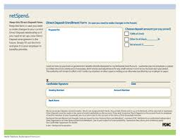 How To Fill Out Direct Deposit Form Free Netspend Direct Deposit Authorization Form Pdf
