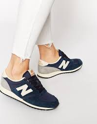 new balance womens trainers. image 1 of new balance 420 navy vintage trainers womens b