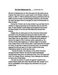 write essay my hero my hero essay examples kibin