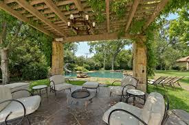 Outdoor Living Room Furniture Excellent Outdoor Living Room With Antique Chandelier