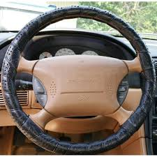 deluxe lace up steering wheel cover car van leather look soft large 39 41cm