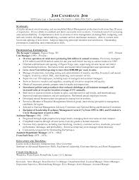 Retail Department Store Manager Resume Vision Specialist Good
