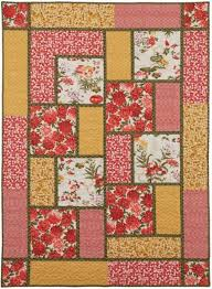 Big Block Quilt Patterns For Beginners Classy Big Block Quilt Like The Limited Number Of Fabrics And Fabric