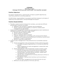 Cashier Job Description Resume Drupaldance Com