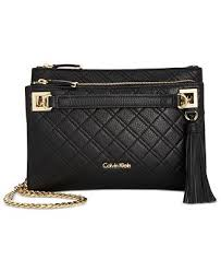 Calvin Klein Quilted Pebble Leather Triple Compartment Crossbody ... & Calvin Klein Quilted Pebble Leather Triple Compartment Crossbody Adamdwight.com