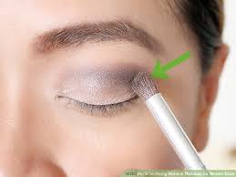 image led apply natural makeup for brown eyes step 6