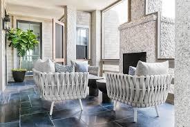 modern sunroom furniture. Light Gray Modern Sunroom Chairs With Pebbled Fireplace Modern Sunroom Furniture