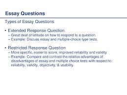 an essay question what an essay question