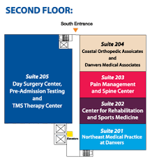 Lahey Clinic My Chart Outpatient Center Hospital Floor Map 2nd Floor Beverly