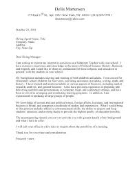 Teaching Cover Letter Example Resume Sample Source