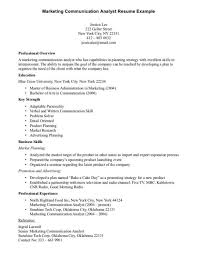 Marketing Communication Resume - Resume Sample