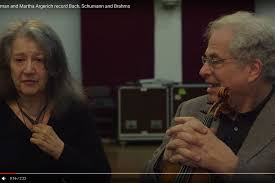 Video of the day: <b>Itzhak</b> Perlman and <b>Martha Argerich</b> record Bach ...