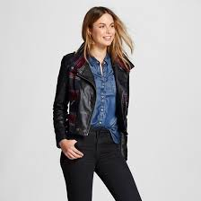 Women's Quilted Faux Leather Jacket Black - Collection B : Target & Women's Quilted Faux Leather Jacket ... Adamdwight.com