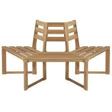 "<b>Tree Bench Half-hexagonal</b> 63"" Solid Acacia Wood | Atcostnow.com ..."