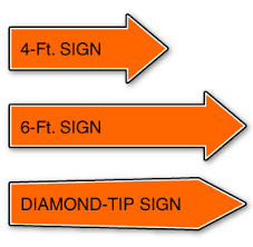 sign twirler aarrow signs coroplast signs corrugated plastic signs