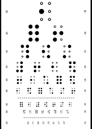 Braille Number Chart Snellen Chart Braille Greeting Card For Sale By Martin