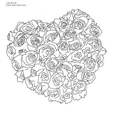 Small Picture Emejing Coloring Pages Flowers Hearts Gallery Coloring Page