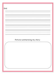 Story Template Beginning Middle End Beginning Middle And End Story Writing Template With Primary Lines