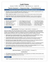 How To Write Resume For Teaching Job Teacher Assistant Sample