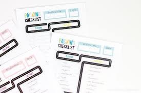 Free Printable Packing List For Kids Printable Crush