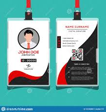 Business Id Template Business Id Card Corporate Design Template Stock Vector
