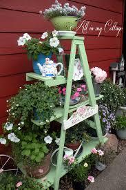 Repurposed Ladder Garden Obi Diy Ideen Für Heim Garten