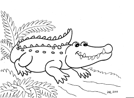 Small Picture Crocodile Coloring Pages Coloring Page