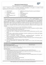 Sap Sd Resume For Freshers Resume For Study
