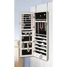 Mirrored Jewelry Cabinet Armoire Over The Door Mirrored Jewelry Cabinet Armoire Box Stand Organizer