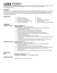 Finance Resume Template 40 Images Finance Resume Example Sample